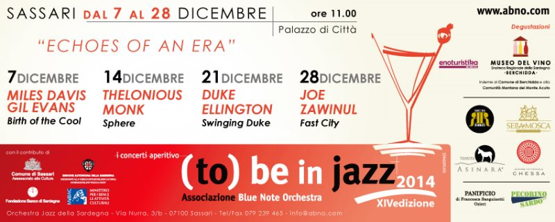 I CONCERTI APERITIVO DI (TO) BE IN JAZZXIV edizione Echoes of an Era