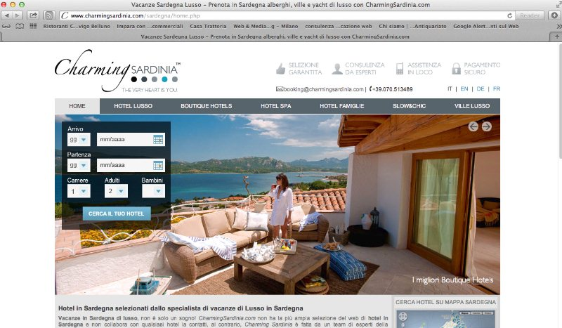 Hotel 5 stelle lusso in Sardegna con charming sardinia